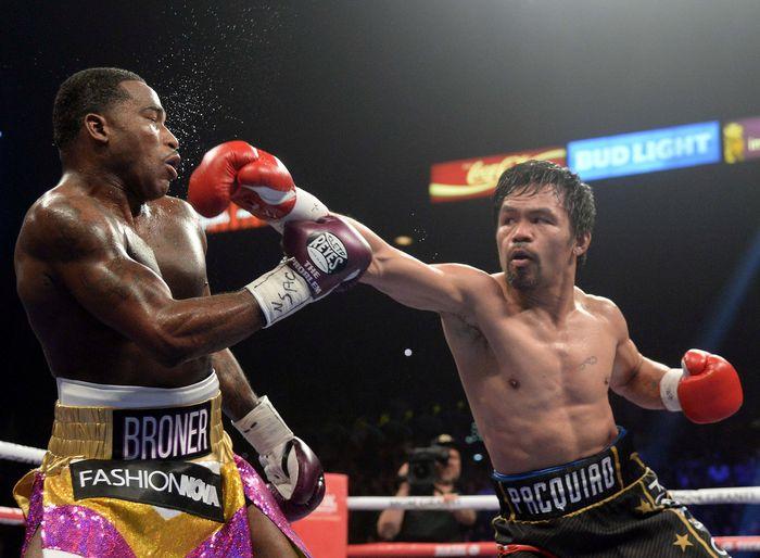 Usia sama sekali tak jadi penghalang buat Manny Pacquiao. Joe Camporeale-USA TODAY Sports Via REUTERS.
