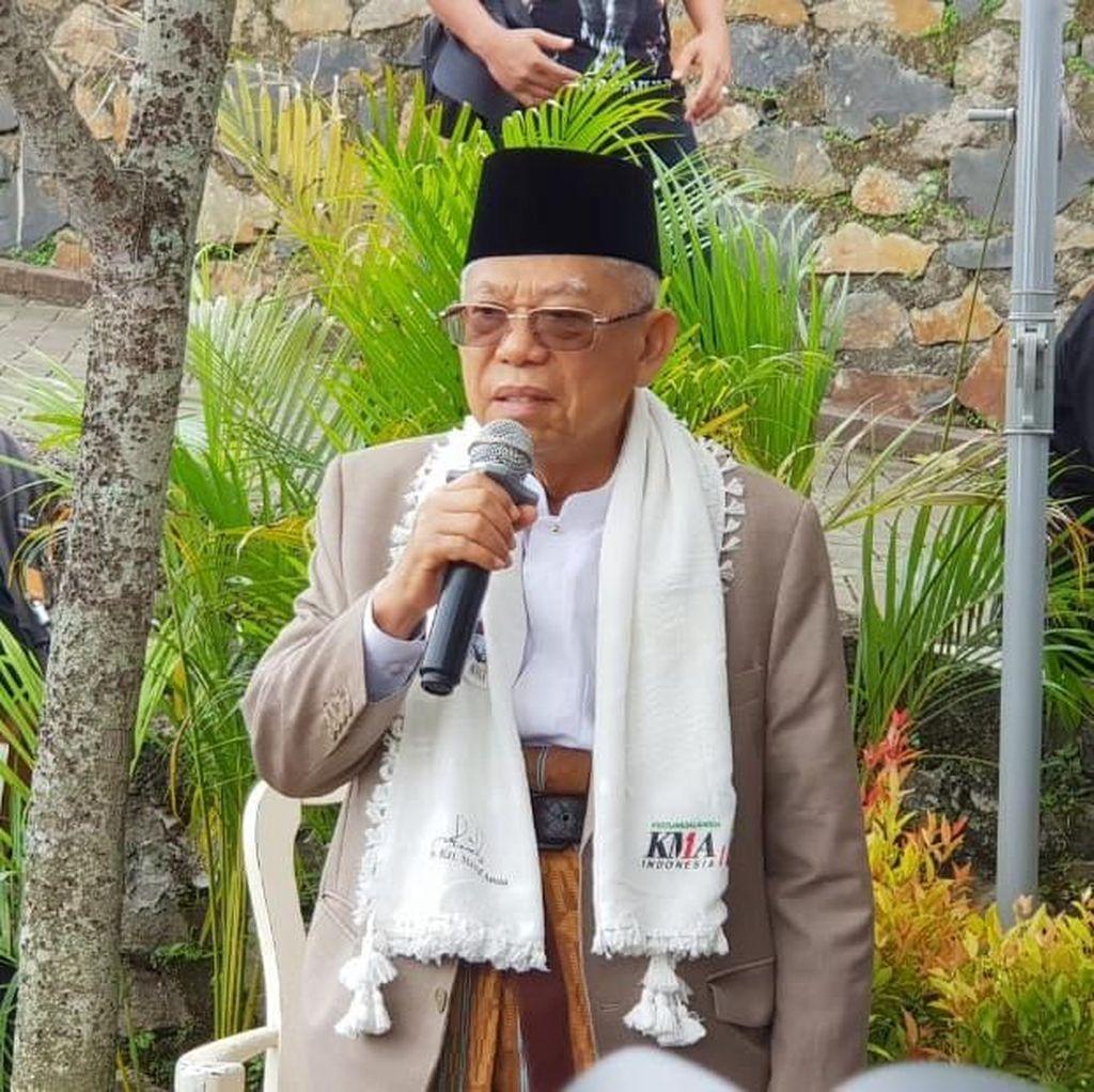 Banggakan Jokowi, Maruf: Tak Ada Presiden Bisa Bangun Tol Trans Jawa