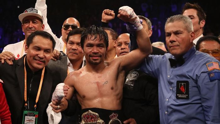Manny Pacquiao menantang Floyd Mayweather Jr (Christian Petersen/Getty Images)