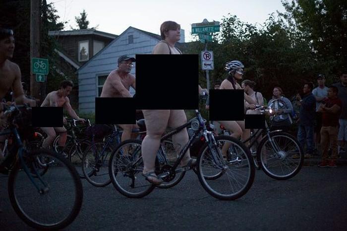 World Naked Bike Ride diadakan di Portland, Oregon pad 23 Juni 2018 lalu.Foto: Getty Images/Natalie Behring