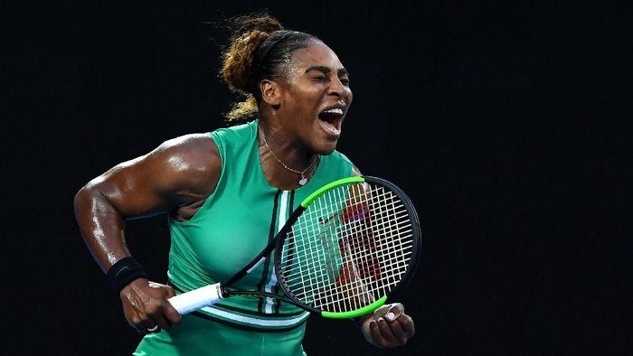 Serena Williams lolos ke perempatfinal Australia Terbuka 2019 usai menyingkirkan Simona Halep (Foto: Quinn Rooney/Getty Images)