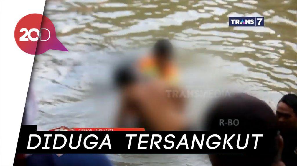 Adu Jago Renang, 2 Remaja Tewas di Sungai Drajat Cirebon