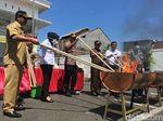 Barang Bukti Kejahatan Senilai Rp 1 Miliar di Mojokerto Dimusnahkan