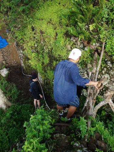 Jalan terjal menuju Bukit Manoreh.