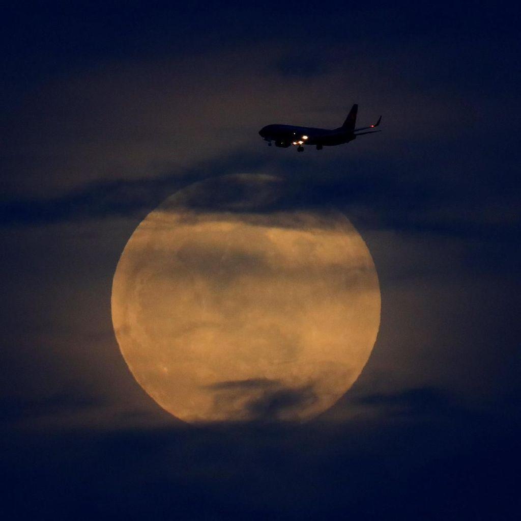 Indahnya Awal Gerhana Bulan Serigala di Berbagai Negara