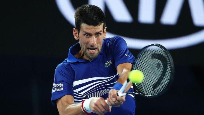 Novak Djokovic melangkah ke perempatfinal Australia Terbuka 2019. (Foto: Scott Barbour/Getty Images)