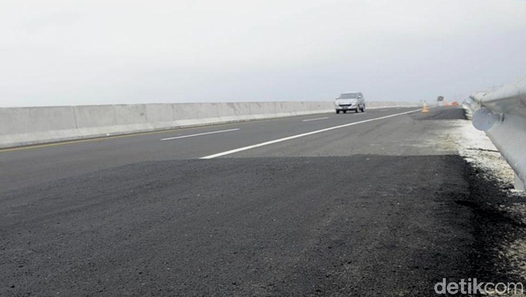 Ruas Tol Pemalang-Batang Retak Sudah Diperbaiki
