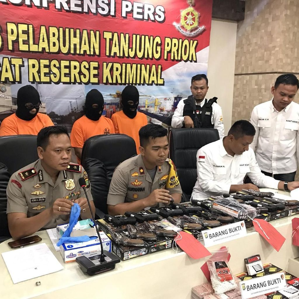 Polisi Bongkar Penjualan Air Gun Ilegal via Medsos