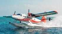 Foto: Pesawat Amphibi dan Pilot Nyeker di Maldives