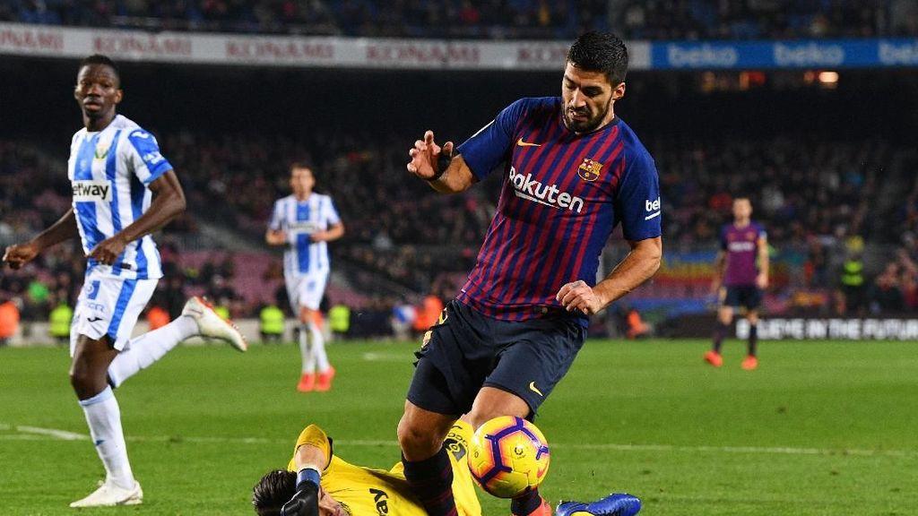 Suarez Vs Leganes: Cetak Gol Kontroversi, Ditabrak dan Ditendang