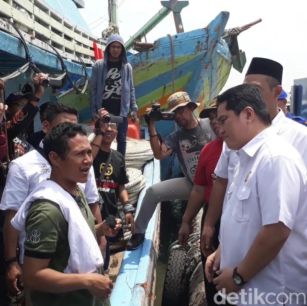 Nelayan Tegal Curhat PerIzinan Kapal yang Lambat ke Erick Thohir