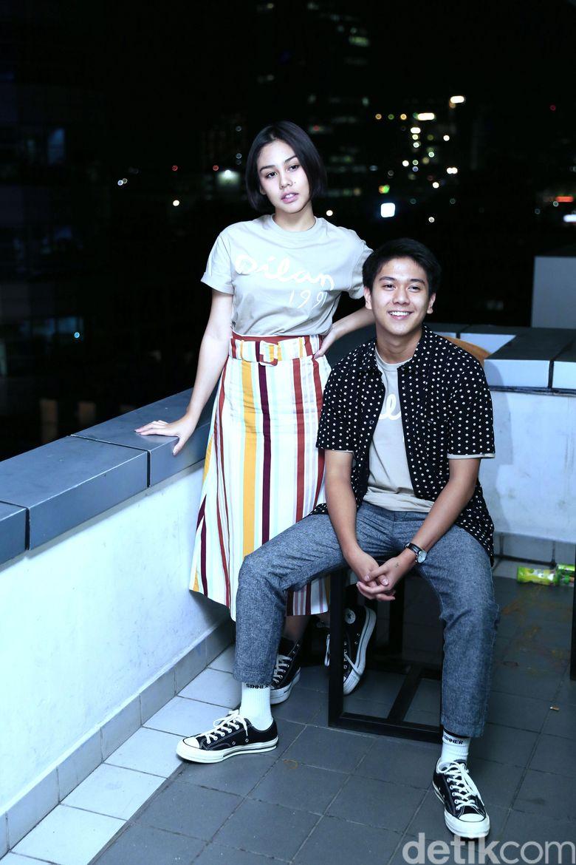 Iqbaal Ramadhan dan Vanesha Prescilla saat berkunjung ke kantor detikcom, Kapten Tendean, Jakarta Selatan beberapa waktu lalu.