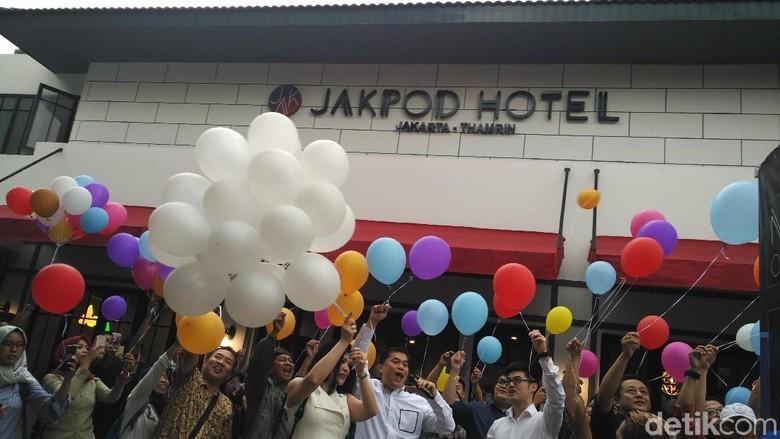 Peresmian Jakpod Capsule Hotel Jakarta (Wahyu/detikTravel)