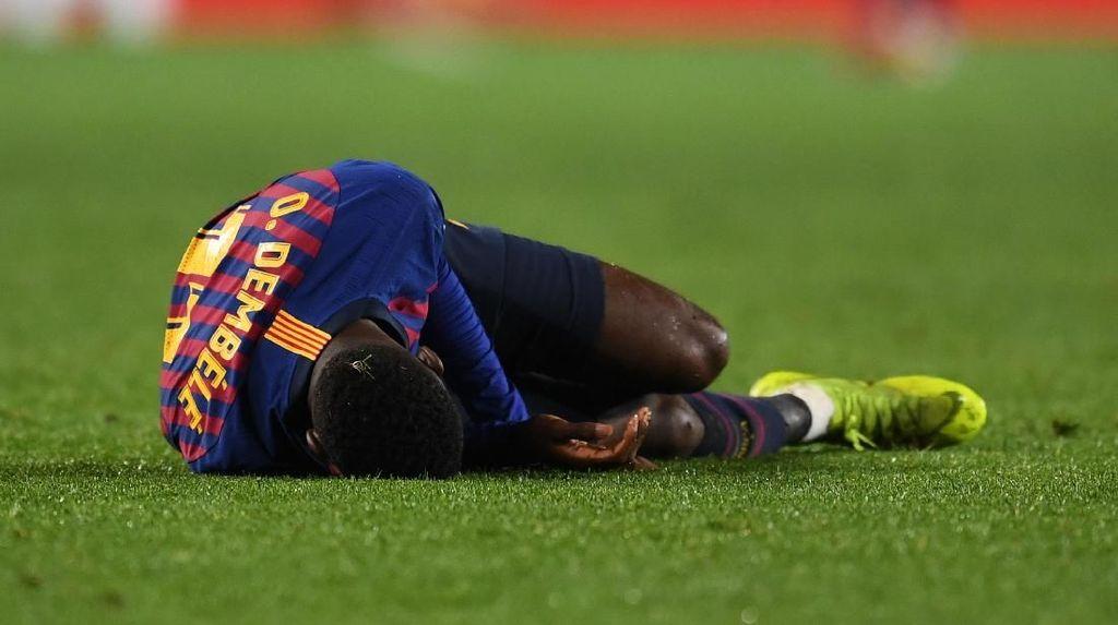 Cedera Dembele Rusak Kemenangan Barcelona