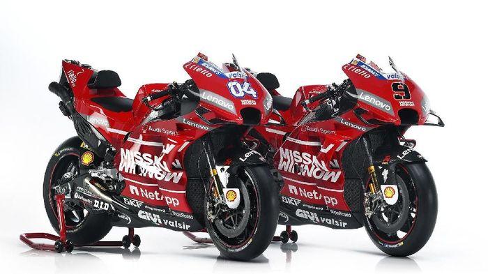 Ducati meluncurkan Desmosedici GP19 untuk MotoGP 2019. Motor yang akan dipakai Andrea Dovizioso dan Danilo Petrucci itu tampil garang dengan warna merah penuh. (www.ducati.com)