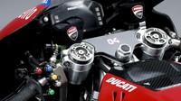 Ini adalah bagian dari panel motor Desmosedici yang akan dipakai Andrea Dovizioso musim depan. (www.ducati.com)
