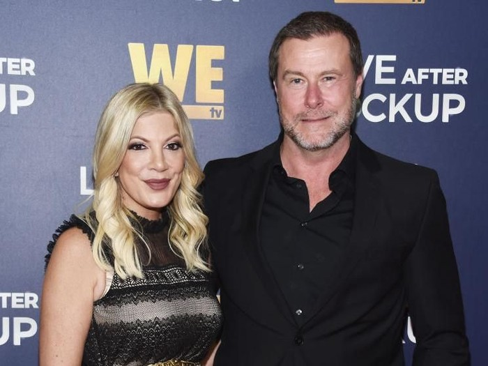 BEVERLY HILLS, CA - DECEMBER 11:  Tori Spelling and Dean McDermott arrive at WE tvs Real Love: Relationship Reality TVs Past, Present & Future event at The Paley Center for Media on December 11, 2018 in Beverly Hills, California.  (Photo by Amanda Edwards/Getty Images)