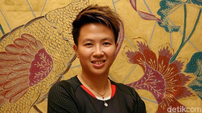 Mantan pemain ganda campuran Indonesia, Liliyana Natsir. (Foto: Agung Pambudhy/Detikcom)