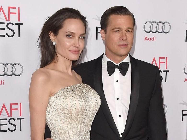 Di Tengah Drama Perceraian, Brad Pitt-Jolie Ternyata Sering Ketemu