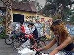 Ulah Cewek Cantik yang Viral karena Ndlosor Saat Balap Liar di Malang