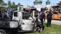 Mobil Pencuri 5 Ekor Sapi di Aceh Utara Dibakar Warga