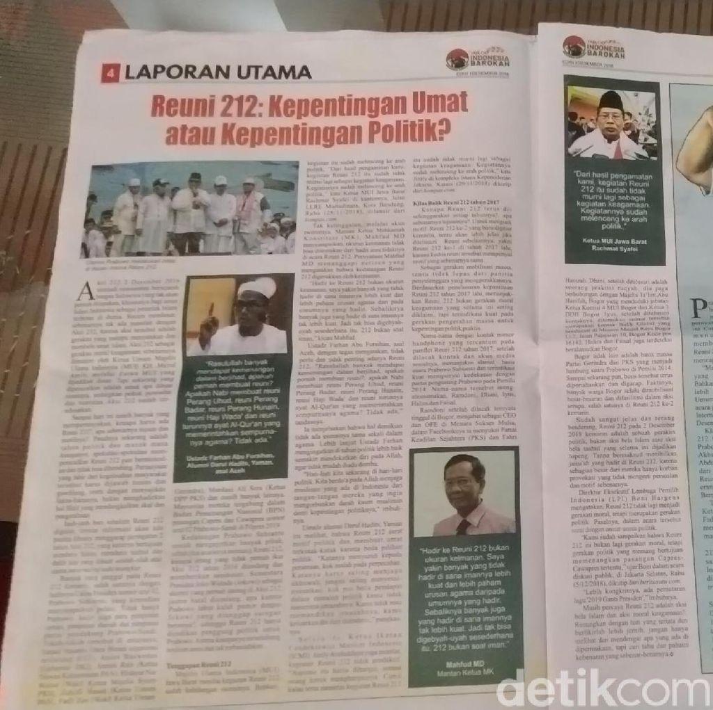 Tim Prabowo Kritik Sikap Bawaslu Blora Soal Tabloid Indonesia Barokah