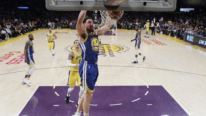 LA Lakers dikalahkan Golden State Warriors (AP Photo/Marcio Jose Sanchez)