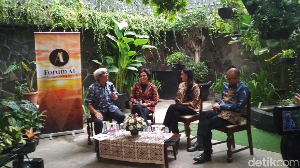Sri Mulyani dan Chatib Basri Bahas Ekonomi RI Bareng Happy Salma