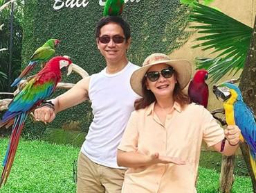 Korea bukan cuma satu-satunya destinasi liburan pasangan ini, Bali juga menjadi tempat berlibur Memes dan Addie MS. (Foto: Instagram/memes605)