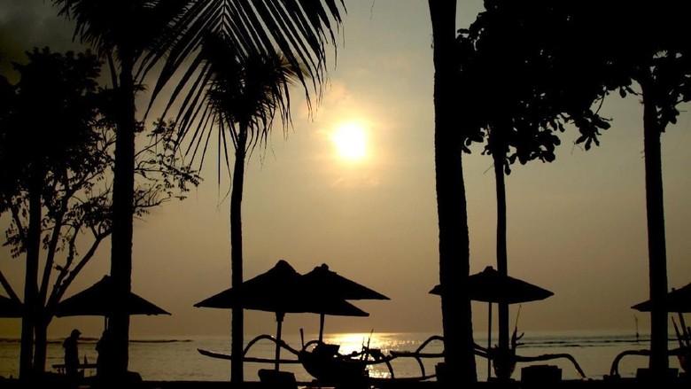Pemandangan pantai Sanur di Bali. (Foto: andi/detikcom)