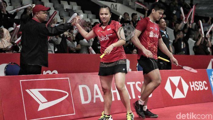 Ganda campuran Indonesia, Praveen Jordan/Melati Daeva Oktavianti. (Foto: Pradita Utama/detikcom)