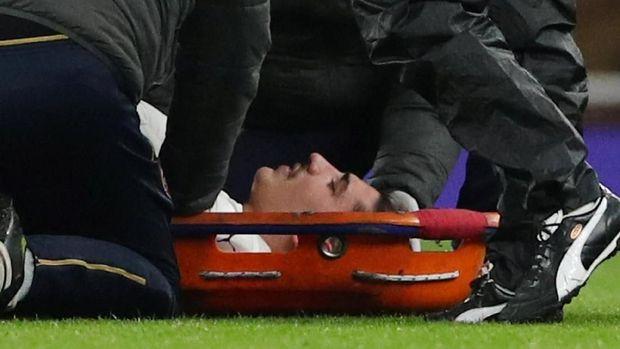 Hector Bellerin menderita cedera ACL usai menghadapi Chelsea di Liga Inggris.