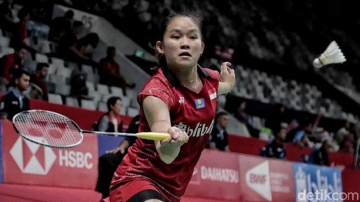 Ruselli Hartawan minta bocoran dari Gregoria Mariska dan Fitriani sebelum menghadapi Ratchanok Intanon (Thailand) di Indonesia Open 2019.  (Pradita Utama/detikSport)