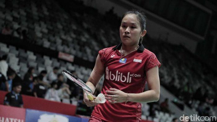 Ruselli Hartawan ingin beri kejutan dengan mengalahkan Ratchanok Intanon di Indonesia Open 2019. (Foto: Pradita Utama)
