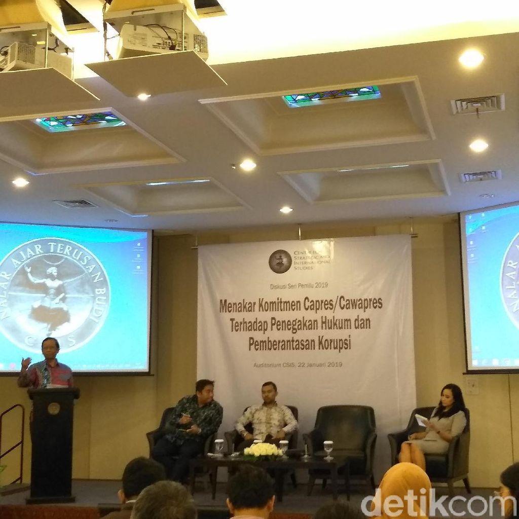 Mahfud Md Nilai Jokowi-Prabowo Tak Sodorkan Strategi Berantas Korupsi