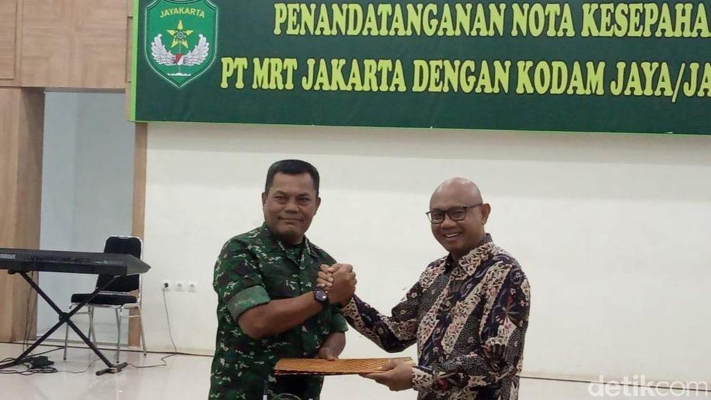 Kodam Jaya Amankan Pembangunan MRT Jakarta Bawah Monas