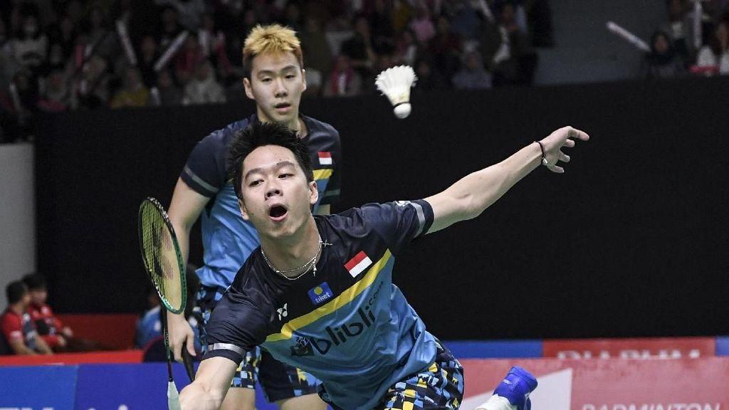 Kalahkan Ganda Jerman, Kevin/Marcus Tembus 16 Besar Indonesia Masters