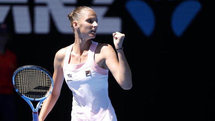 Karolina Pliskova mengalahkan Serena Williams untuk lolos ke semifinal Australia Terbuka 2019 (Foto: Aly Song/Reuters)