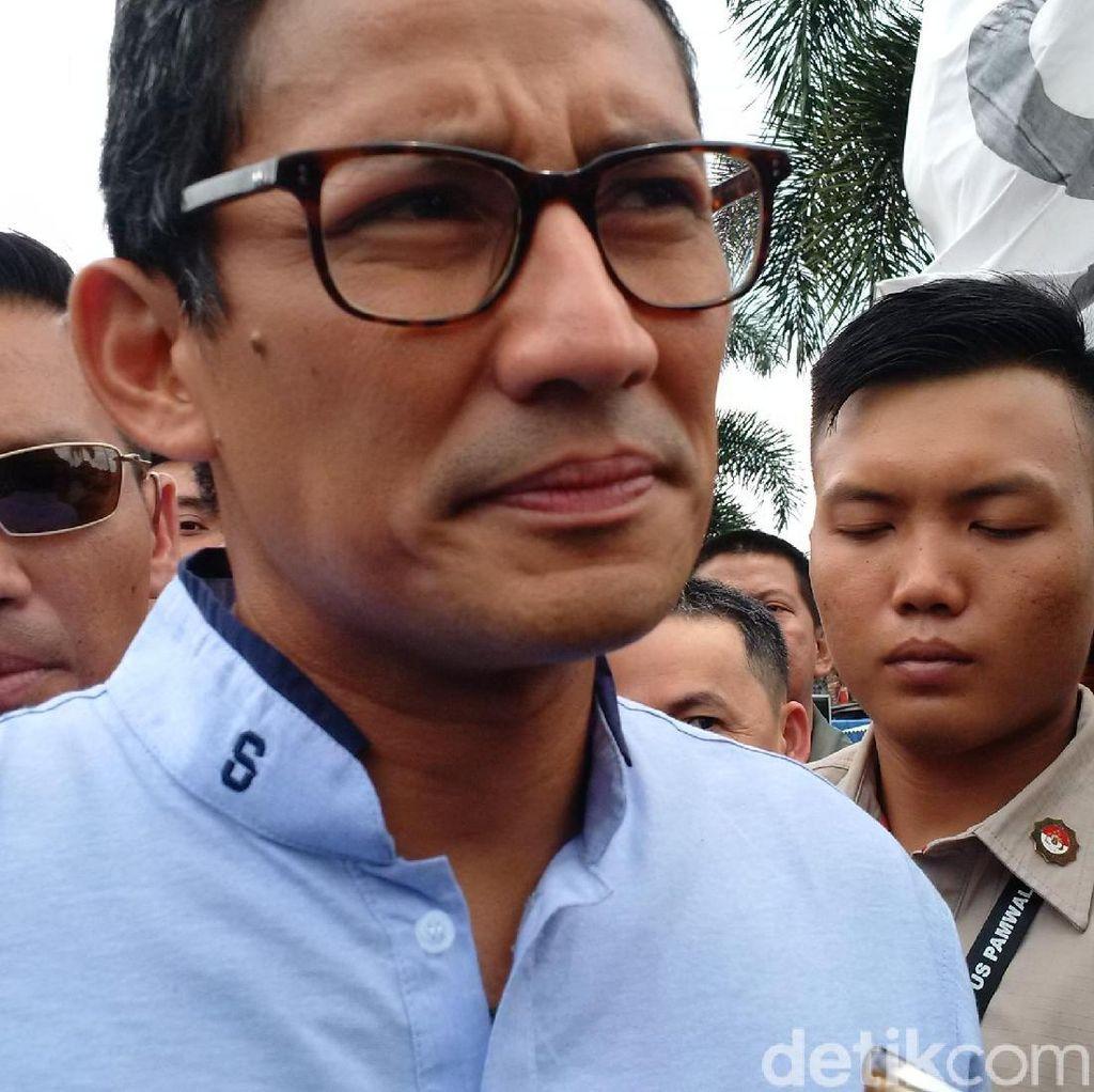 Tabloid Indonesia Barokah, Sandiaga: Kita Serahkan ke Aparat