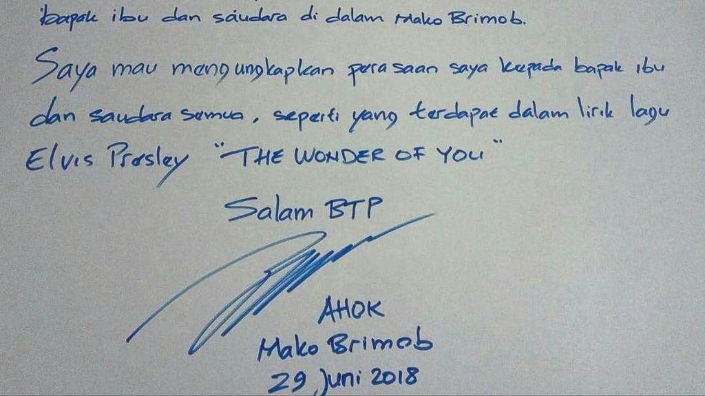 Sederet Surat yang Ditulis Ahok dari Balik Penjara