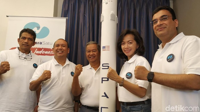 Satelit Nusantara Satu kepunyaan Pasifik Satelit Nusantara (PSN) mengangkasa bulan depan. (Foto: Agus Tri Haryanto/detikINET)