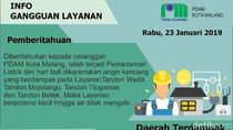Listrik Padam Bikin Suplai Air PDAM di Malang Mampet