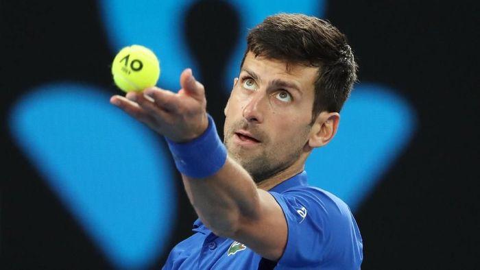 Novak Djokovic meluncur mulus ke semifinal Australia Terbuka 2019. Foto: Reuters