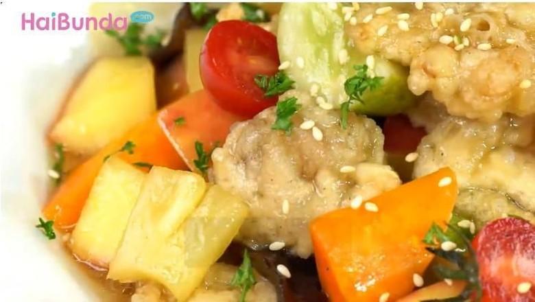 Resep ayam crispy saus asam manis/ Foto: 20detik