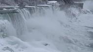 Penampakan Niagara yang Memutih karena Suhu Dingin Ekstrem