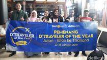 Asyik! dTraveler of The Year 2018 Berangkat ke Thailand