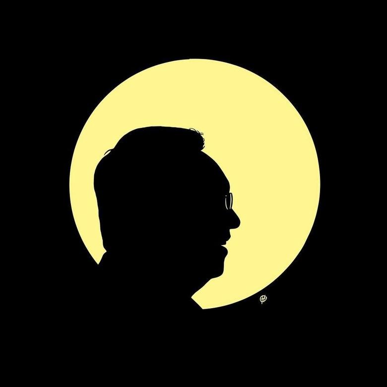 Ahok Bebas, Hari Prast Bikin Ilustrasi Cahaya Purnama Bergaya Tintin Foto: @harimerdeka/ Instagram