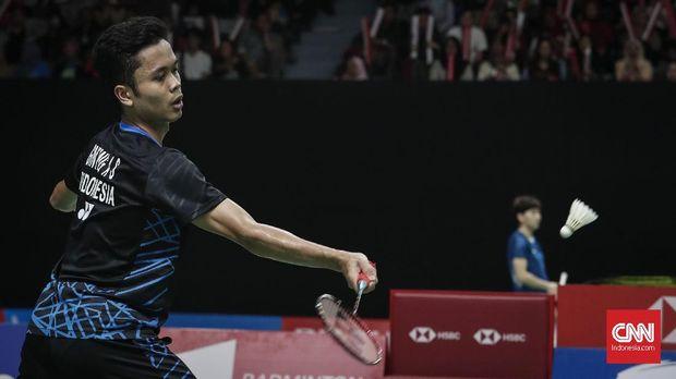 Jonatan dan Anthony Ginting Tumbang di Kejuaraan Asia