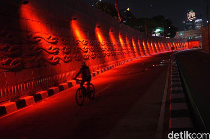 Underpass Mampang-Kuningan merupakan salah satu infrastruktur warisan Ahok. Proyek tersebut dibangun sepanjang 885 meter dan lebar 16-21 meter. Dan menghabiskan dana mencapai Rp 200 miliar. Dikhy Sasra/detikcom.