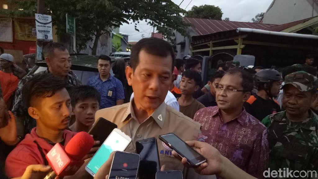 Kepala BNPB Tinjau Lokasi Banjir di Makassar